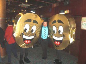 2 mascottes au casino d'Amnéville
