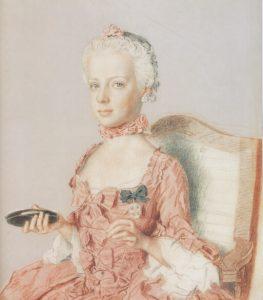 Portrait de Marie Antoinette enfant par Liotard