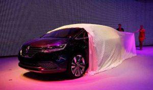 Housse réalisée pour la présentation de Renault Initiale Paris au salon de l'auto de Francfort