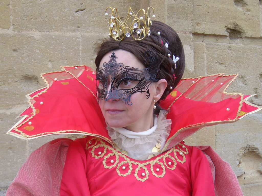 Détail tête pour le carnaval vénitien de Longwy