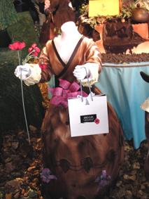 Salon du chocolat Vaux le Vicomte costume de fille chocolaté