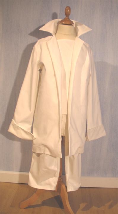 Salon du chocolat Vaux le Vicomte costume de garçon blanc