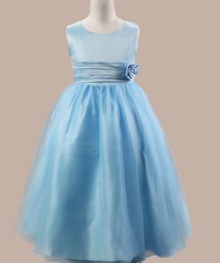 Robe de cortège bleue