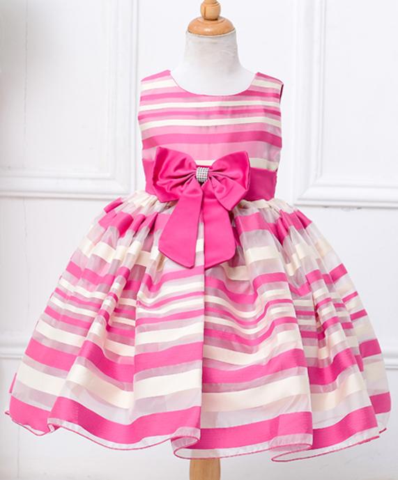Robe de cortège rayée rose