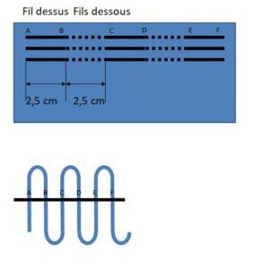 Schéma des plis canons