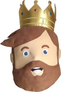 Tête de mascotte Henri