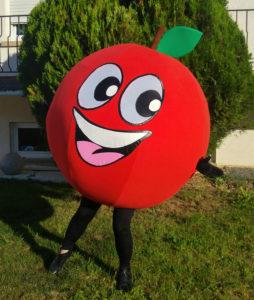 mascotte de pomme